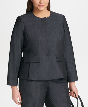 Джинсовая куртка больших размеров на молнии Calvin Klein