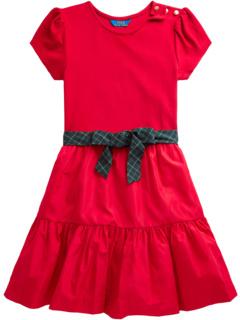 Многоярусное платье из эластичного интерлока (Little Kids) Ralph Lauren