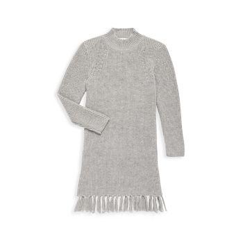 Платье-свитер для девочек с бахромой Milly Minis