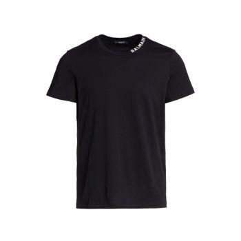 Классическая футболка с воротником с логотипом Balmain