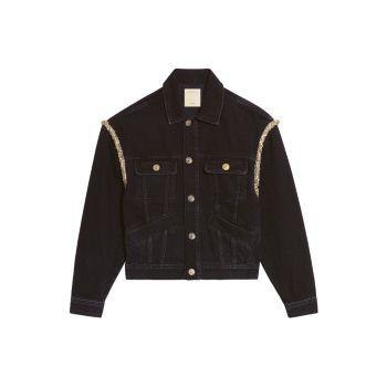 Джинсовая куртка с эффектом потертости Paloma Sandro