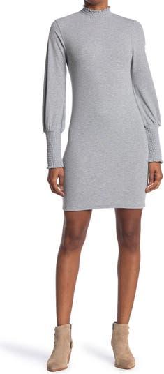 Короткое платье с рюшами и рукавами ONE ONE SIX