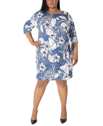 Платье больших размеров с завязками по бокам Robbie Bee