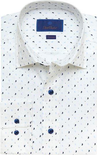 Текстурированная классическая рубашка Performance с отделкой Trim Fit David Donahue