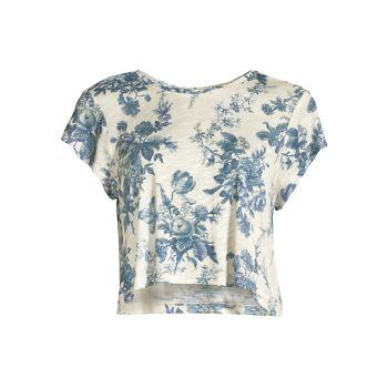 Укороченная футболка Rubin LOVESHACKFANCY