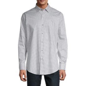 Рубашка классического кроя в клетку Graph-Check BUGATCHI