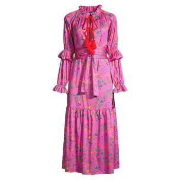 Хлопковое платье макси Sanibel Cynthia Rowley