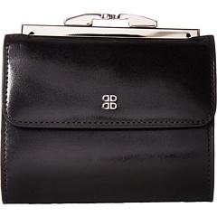 Старый кожаный 4-дюймовый французский кошелек BOSCA