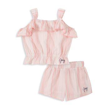 Двухкомпонентный полосатый топ и amp; Комплект шорт Juicy Couture
