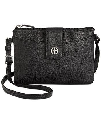 Кожаная сумка через плечо Softy Mini Accordion, созданная для Macy's Giani Bernini