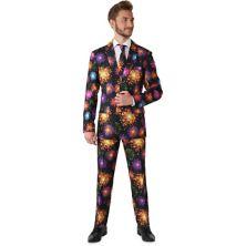 Рождественский праздничный мужской приталенный костюм-новинка Suitmeister Fireworks Suitmeister