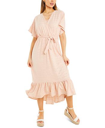 Платье Burnout в полоску с поясом Quiz