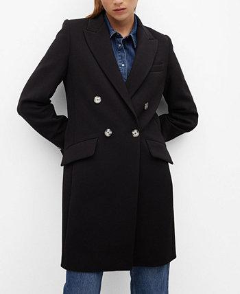 Мужское структурированное пальто MANGO