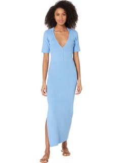 Разноцветное трикотажное платье Bardot