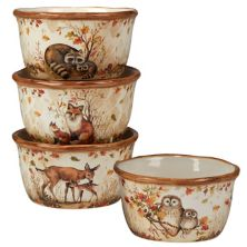 Certified International Pine Forest 4-pc. Ice Cream Bowl Set Certified International