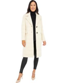 Однобортное шерстяное пальто с боковыми карманами Calvin Klein