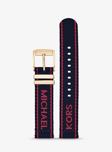 Нейлоновый нейлоновый ремешок для умных часов Gen 3 Runway Logo Tape Michael Kors