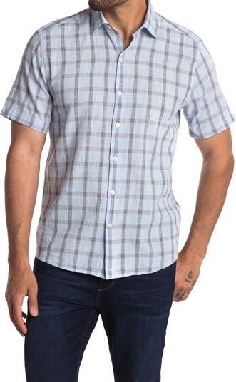 Рубашка с коротким рукавом с принтом Fairfield Plaid ROBERT BARAKETT