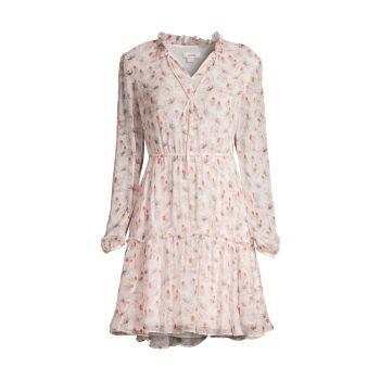 Floral Silk Tiered Dress Jason Wu