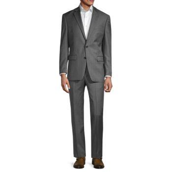 Striped Regular Fit Wool Suit LAUREN Ralph Lauren