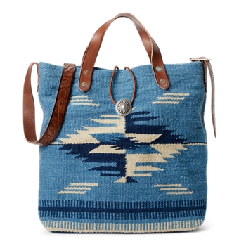 Handwoven Indigo Jacquard Bag  Size Ralph Lauren