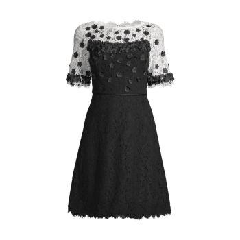 Платье с цветочными аппликациями SHANI