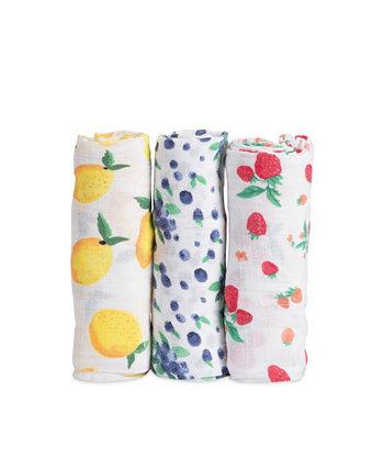 Берри Лимонад Хлопок Муслин 3-х пакет одеяло пеленание Little Unicorn