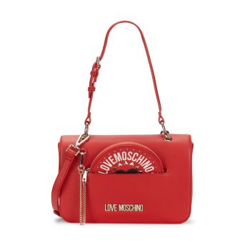 Logo Convertible Shoulder Bag LOVE Moschino