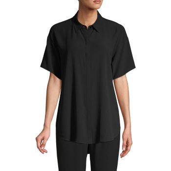 Шелковая рубашка с коротким рукавом Eileen Fisher