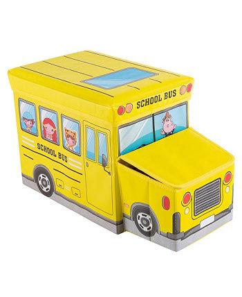 Складной грузовик Школьный автобус Toybox Trademark Global