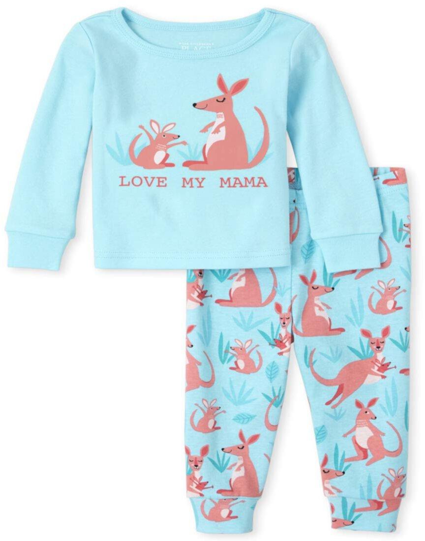 Хлопковая пижама-кенгуру для малышей и малышей Snug Fit The Children's Place