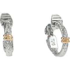 Серьги-кольца Huggie с зажимом в елочку Ralph Lauren