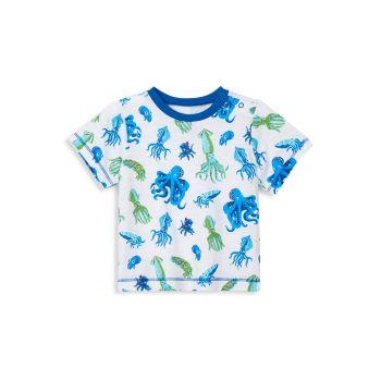 Детские & amp; Футболка с изображением осьминога для маленьких мальчиков Hatley