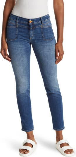 Pedal X Mid Rise Skinny Jeans CLOSED