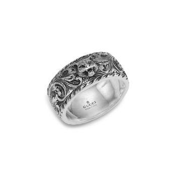 Sterling Silver Gatto Ring GUCCI