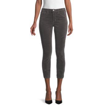 Бархатные джинсы скинни Margot с высокой посадкой L'AGENCE