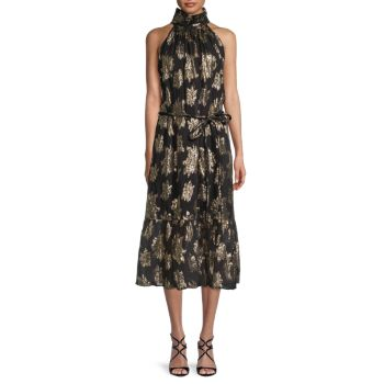 Платье Laza Shimmer с цветочным принтом и поясом IRO