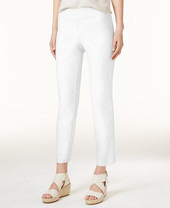 Узкие брюки до щиколотки из моющегося крепа, стандартные и миниатюрные Eileen Fisher