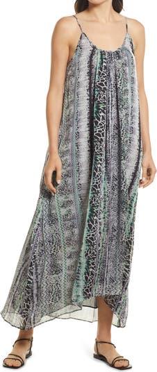 Шифоновое платье макси с животным принтом и двойным овалом Chelsea28
