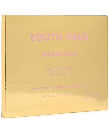 Маска для лица Youth Haus Golden Glow Gold, 5 шт. Skin Gym
