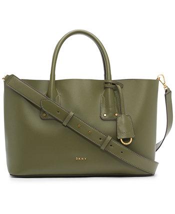Кожаная сумка-тоут Megan East West DKNY