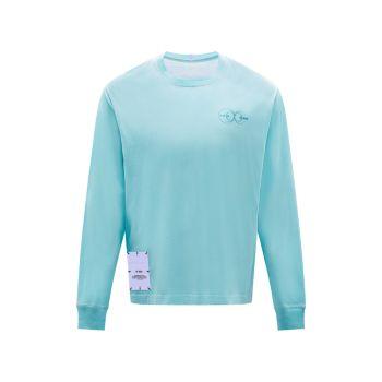 Relaxed-Fit Crewneck Long-Sleeve Sweatshirt McQ