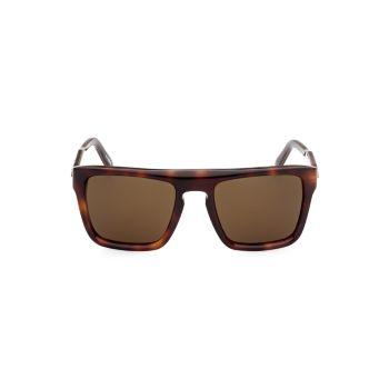 Пластиковые квадратные солнцезащитные очки 55 мм Zegna