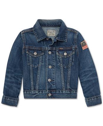 Хлопковая джинсовая куртка дальнобойщика Little Boys Ralph Lauren