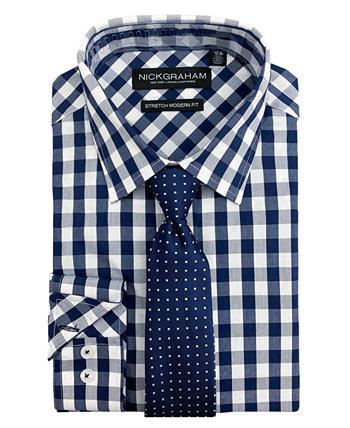 Мужская классическая рубашка и галстук Modern Fit Nick Graham