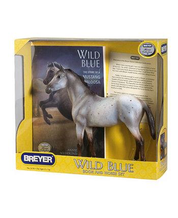 Фигурка лошади и книжный набор, дикий синий BREYER