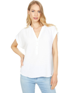 Блузка в белую потайную полоску Dylan by True Grit