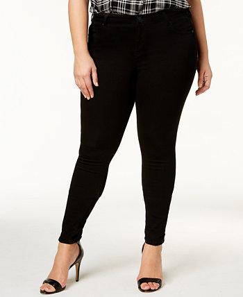 Модные супероблегающие джинсы Dawson со средней посадкой и стрейч-стрейчом большого размера с эффектом бесконечности Celebrity Pink