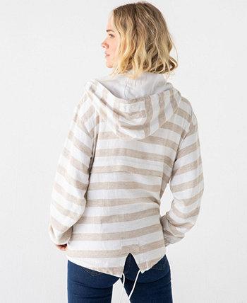 Пуловер-ветровка в полоску с питанием от ниток THREAD AND SUPPLY