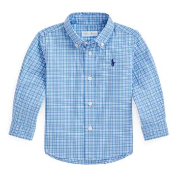 Рубашка из хлопкового поплина в клетку Ralph Lauren
